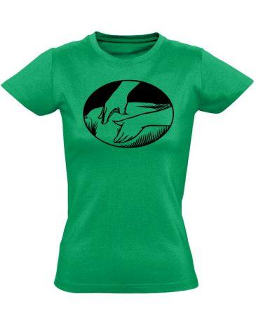 Presszúra masszázs női póló (zöld)