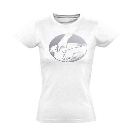 Presszúra masszázs női póló (fehér)