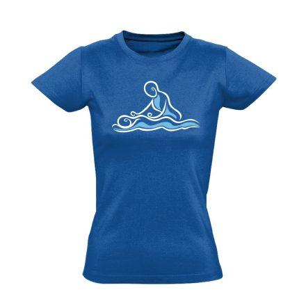 Hullám masszázs női póló (kék)