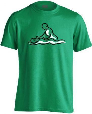 Hullám masszázs férfi póló (zöld)