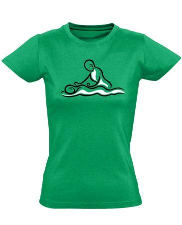Hullám masszázs női póló (zöld)
