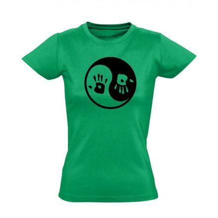 Jin Jang masszázs női póló (zöld)