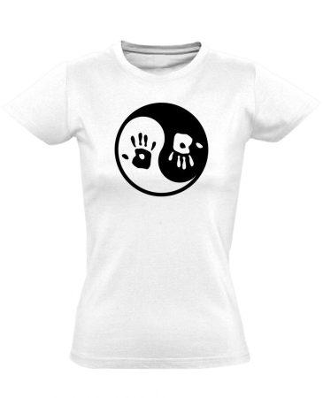Jin Jang masszázs női póló (fehér)