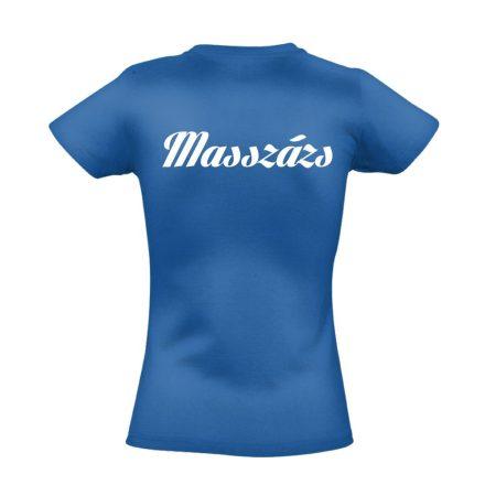 Masszázs női póló (kék)