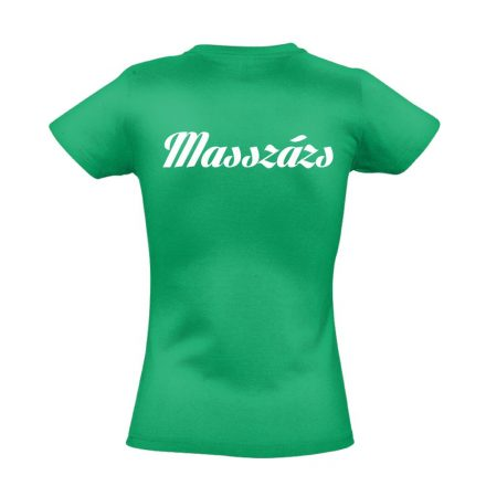 Masszázs női póló (zöld)