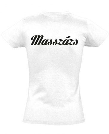 Masszázs női póló (fehér)