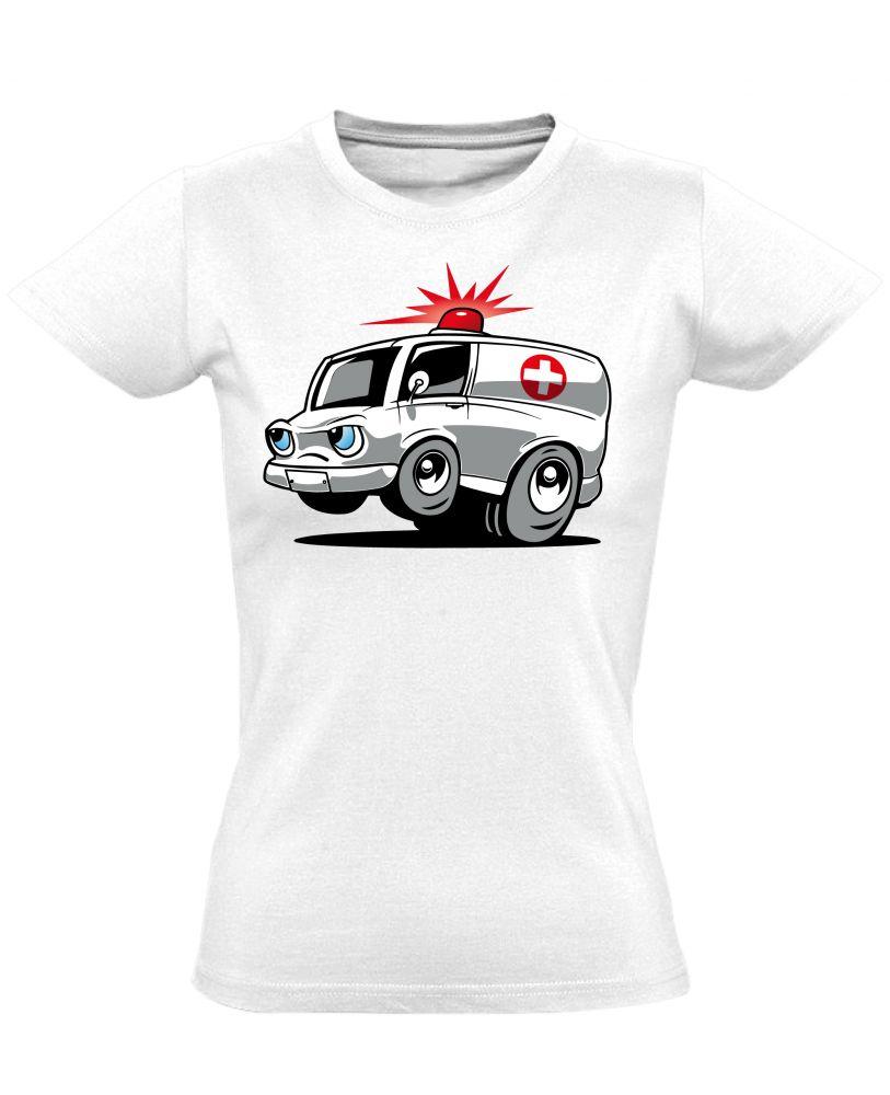 Nysa női mentős póló (fehér) - PólóVerzum 2ba309010b