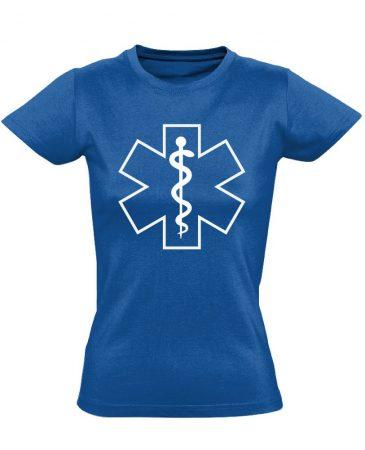 Szimbólum női mentős póló (kék)