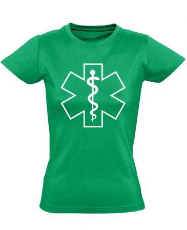 Szimbólum női mentős póló (zöld)