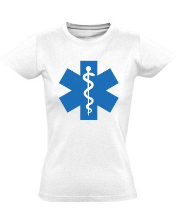 Szimbólum női mentős póló (fehér)
