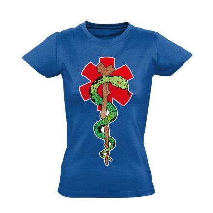 Kígyós női mentős póló (kék)