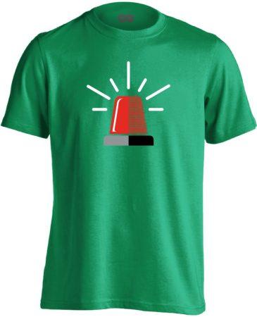 Neenow mentős férfi póló (zöld)