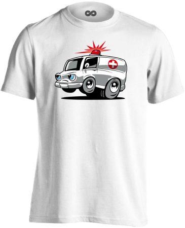 Nysa mentős férfi póló (fehér)
