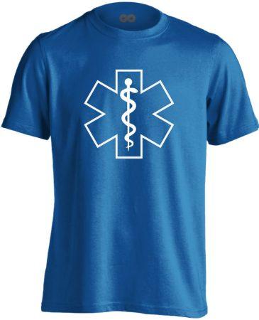 Szimbólum mentős férfi póló (kék)