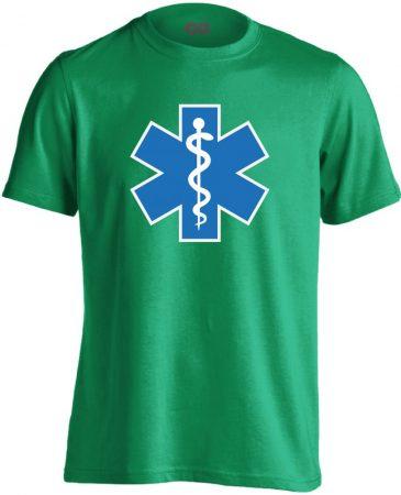 Szimbólum mentős férfi póló (zöld)
