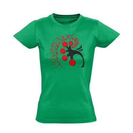 A Vese Művészete nefrológiai női póló (zöld)