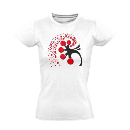 A Vese Művészete nefrológiai női póló (fehér)