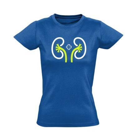 VeseVigyázó nefrológiai női póló (kék)