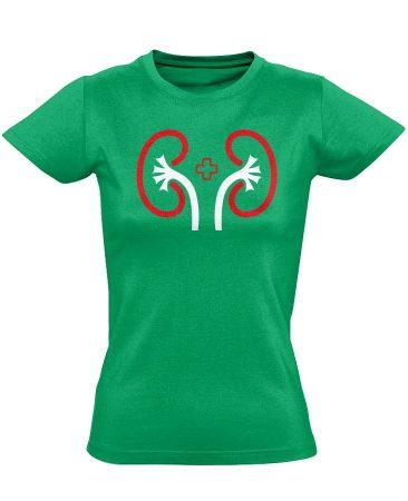 VeseVigyázó nefrológiai női póló (zöld)