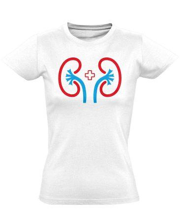 VeseVigyázó nefrológiai női póló (fehér)