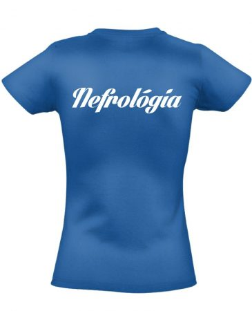 Nefrológiai női póló (kék)