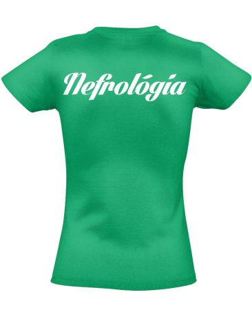 Nefrológiai női póló (zöld)