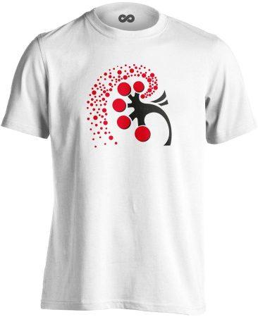 A Vese Művészete nefrológiai férfi póló (fehér)