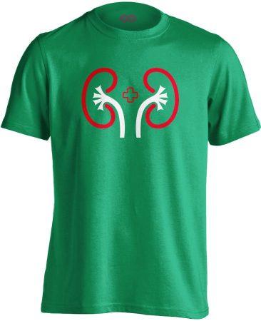 VeseVigyázó nefrológiai férfi póló (zöld)