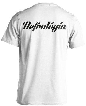 Nefrológiai férfi póló (fehér)