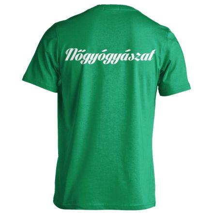 Nőgyógyászat férfi póló (zöld)
