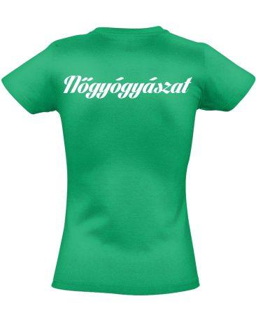 Nőgyógyászati női póló (zöld)