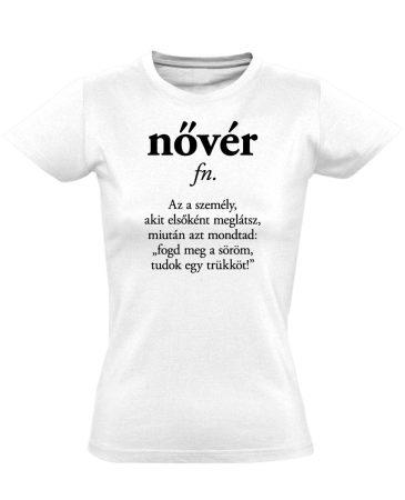 Szótár nővér női póló (fehér)