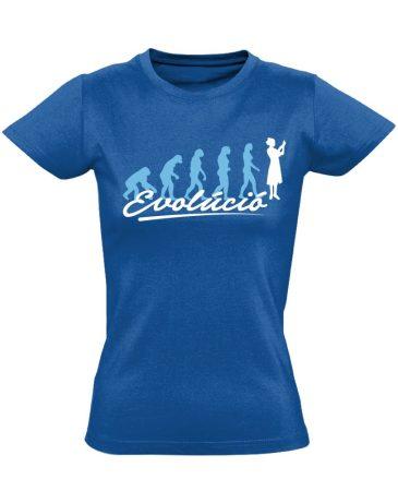 Evolúció nővér póló (kék)