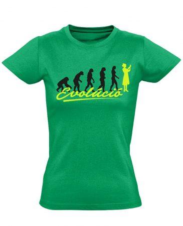Evolúció nővér póló (zöld)
