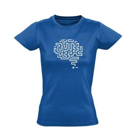 Agytekervény neurológiai női póló (kék)