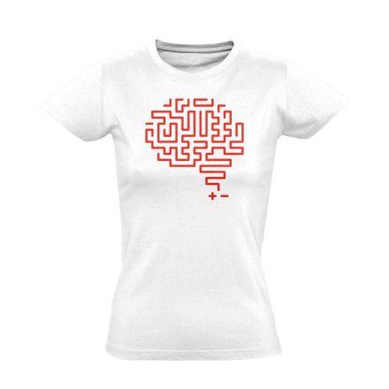 Agytekervény neurológiai női póló (fehér)