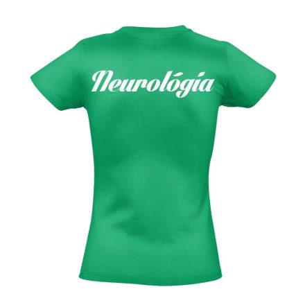 Neurológia női póló (zöld)