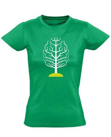 FAGY neurológiai női póló (zöld)
