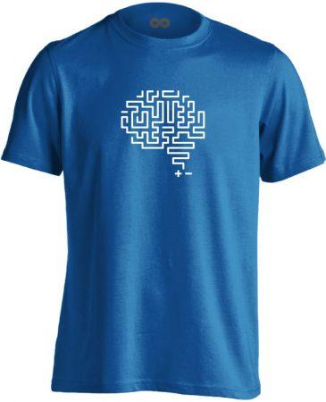 Agytekervény neurológiai férfi póló (kék)