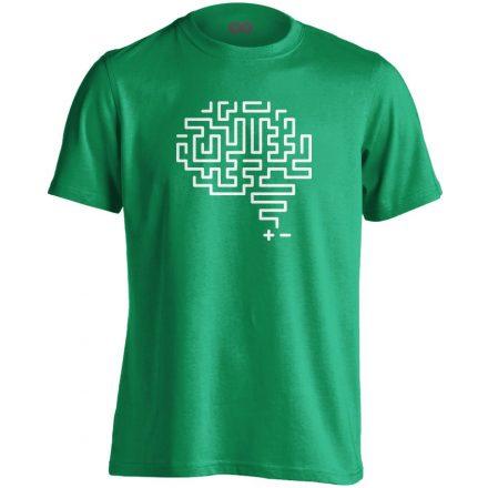 Agytekervény neurológiai férfi póló (zöld)