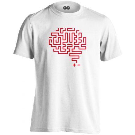 Agytekervény neurológiai férfi póló (fehér)