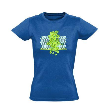 Sejtfelesleg onkológiai női póló (kék)