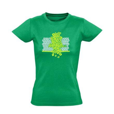 Sejtfelesleg onkológiai női póló (zöld)