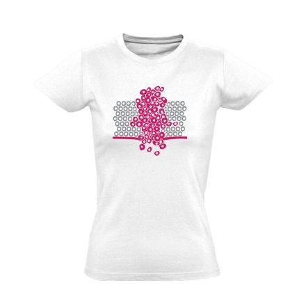 Sejtfelesleg onkológiai női póló (fehér)