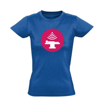 Sugár onkológiai női póló (kék)