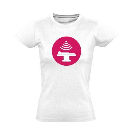 Sugár onkológiai női póló (fehér)