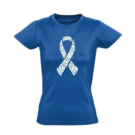 A remény szalagja onkológiai női póló (kék)