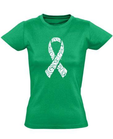 A remény szalagja onkológiai női póló (zöld)