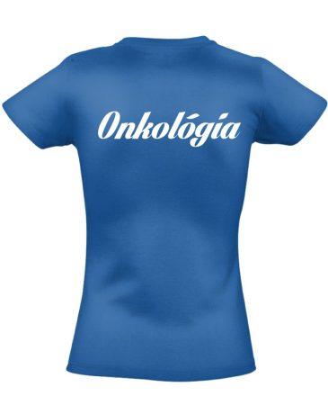 Onkológiai női póló (kék)