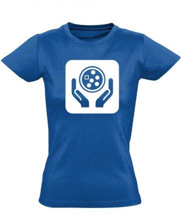 Ikonkológia onkológiai női póló (kék)